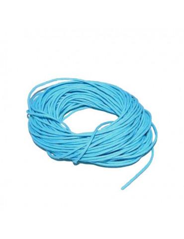 Cordon en coton bleu 1mm x5m
