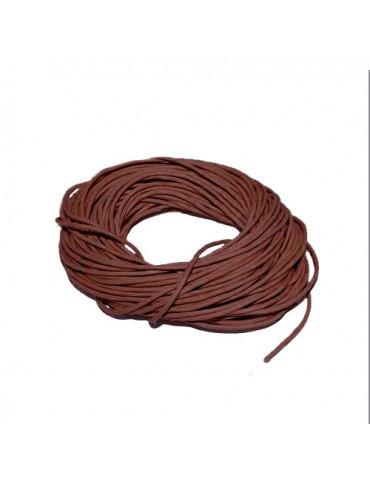 Cordon en coton brun 1mm x5m
