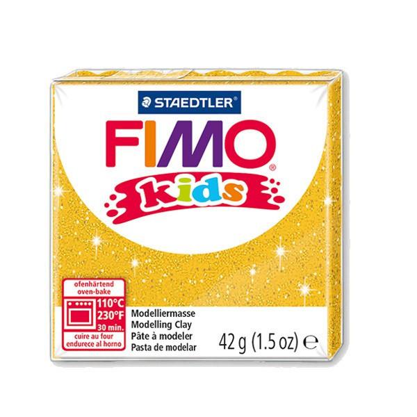 Fimo Kids or pailleté n°112