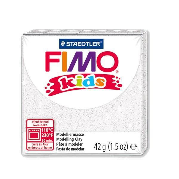 Fimo Kids blanc pailleté n°052