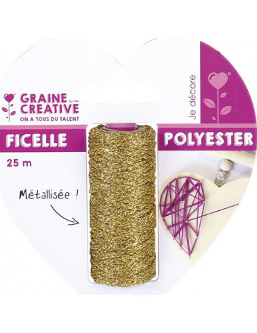 Ficelle métallisée Or - Bobine 25m - Graine Créative