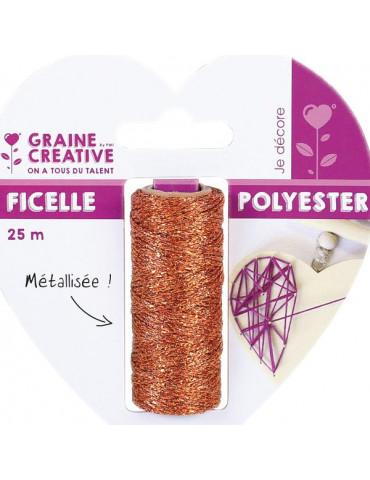 Ficelle métallisée Cuivré - Bobine 25m - Graine Créative