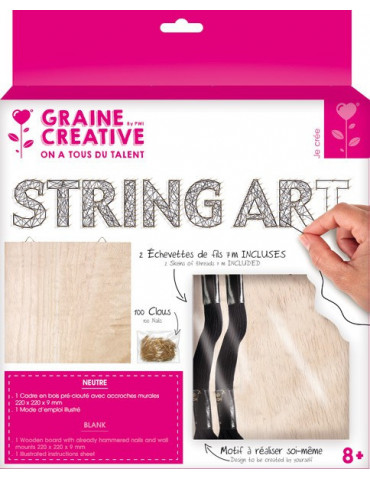 Kit Tableau Sring Art  neutre - 22x22cm