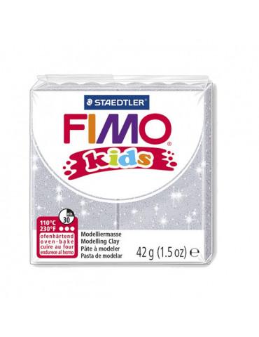 Fimo Kids Gris pailleté n°212