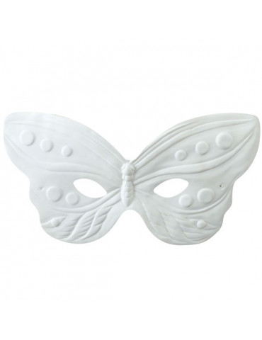 Masque loup - Papillon relief - 22cm