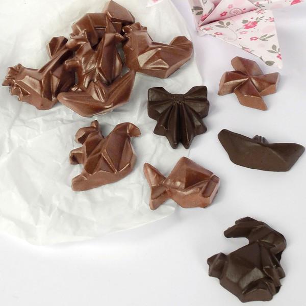 Moule Chocolat Pâques - Fritures Origami - Graine Créative