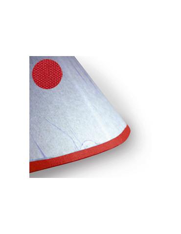 Biais adhésif tissu rouge...