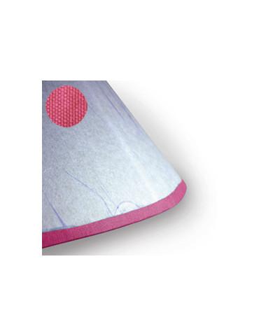 Biais adhésif tissu rose 2m