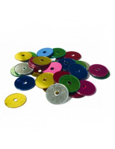 Sequins plats 6mm - Coloris assortis 30g