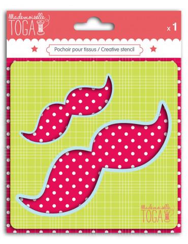 Pochoir tissu - Moustaches...