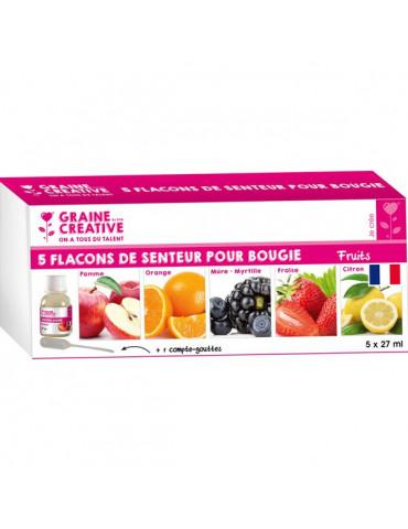 Parfum bougie et savon - Assort.Fruits - 5x 27ml