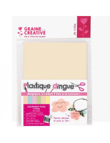 Plastique dingue assortiment pastel - 6 feuilles petit format