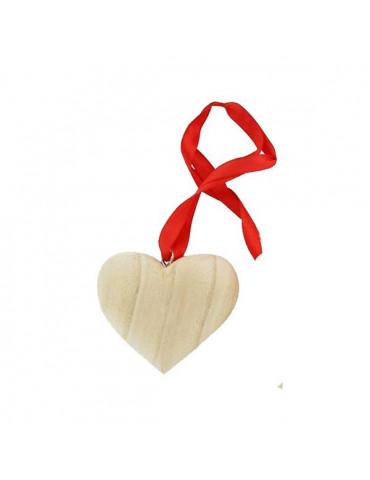 Coeur bois à suspendre 8cm