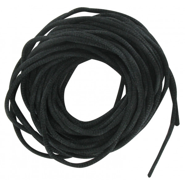 Cordelette satin noir 2mm x6m - Cordon pour bijoux
