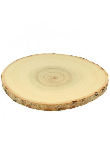 Rondelle de bois - 20 à 23 cm