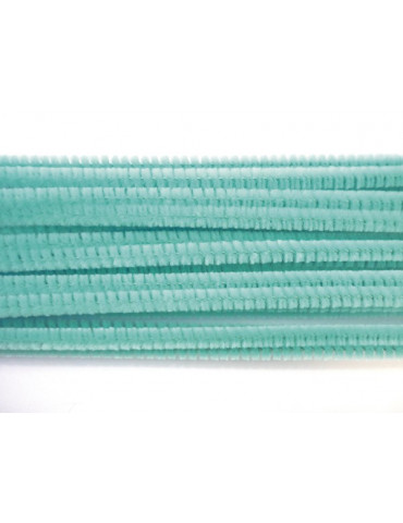 Fil chenille Turquoise 8mm...