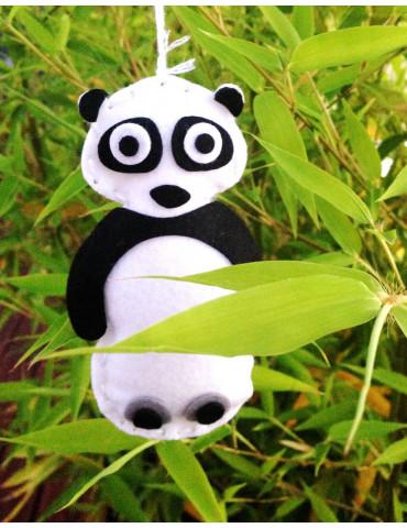 Kit DIY feutrine enfant Booly - Panda à coudre - 3 pcs