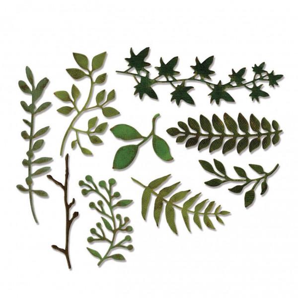 Dies Thinlits Garden Greens - 9 pièces - Sizzix