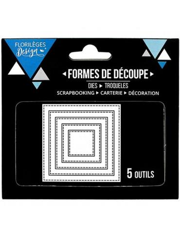 Dies Florilèges Design - Carrés basiques x5