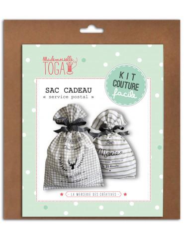 """Kit couture facile - Sac cadeau """"Service Postal"""""""