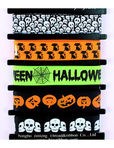 Rubans Halloween 1,5cm x1m - 5 pièces