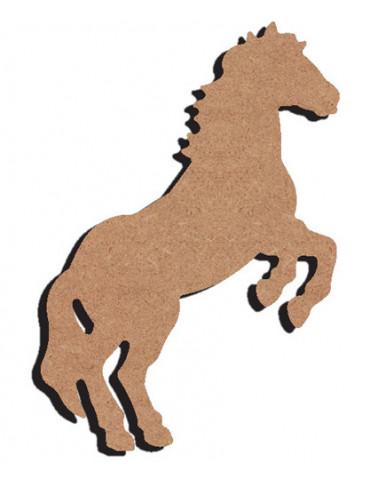 Support bois - Cheval cabré...