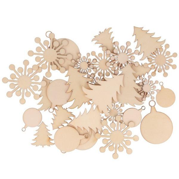 Mini silhouettes bois Noël x30 - Artemio