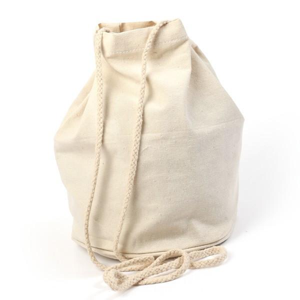 Sac seau coton écru - 15x23cm
