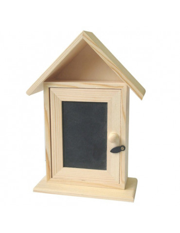 Boite à clés maison en bois et ardoise - 20x13m