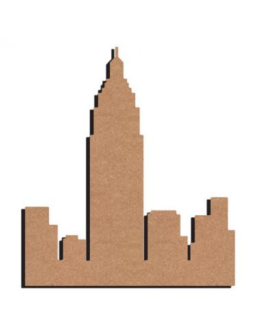 City en bois - 26cm