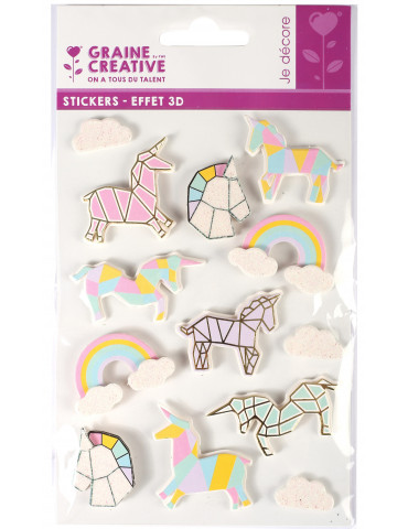 Stickers 3D - Licorne 50mm...