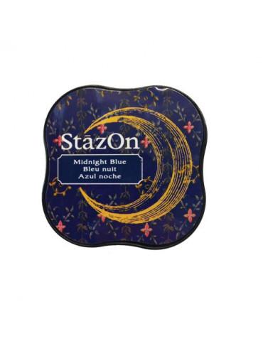 Encre StazOn Midi Bleu nuit - Tsukineko