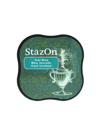 Encre StazOn Midi Bleu Sarcelle - Tsukineko
