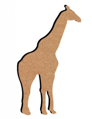 Support bois - Girafe 15 cm
