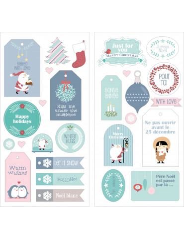 Puffies XL My Little Xmas - 2 planches stickers - Artemio