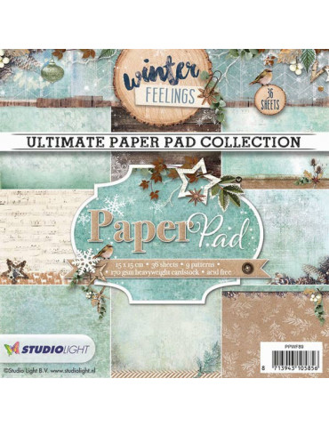 Bloc papier scrapbooking - Paper Pad Winter Feelings n°89 - Studio Light