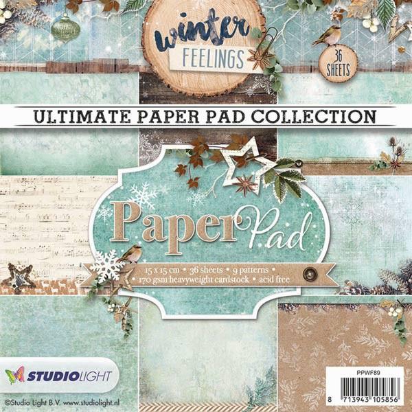 Bloc papier scrapbooking - Paper Pad Winter Feelings n°89 - Studio Light