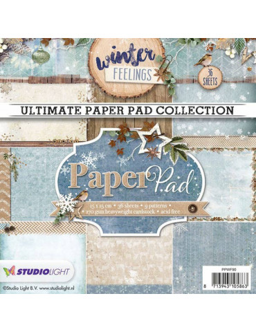 Bloc papier scrapbooking - Paper Pad Winter Feelings n°90 - Studio Light