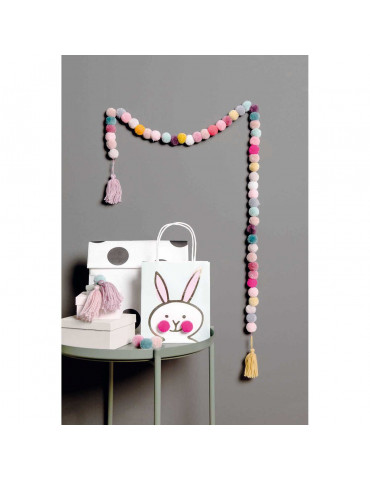Set 24 pompons laine - Mix pastel - 3cm