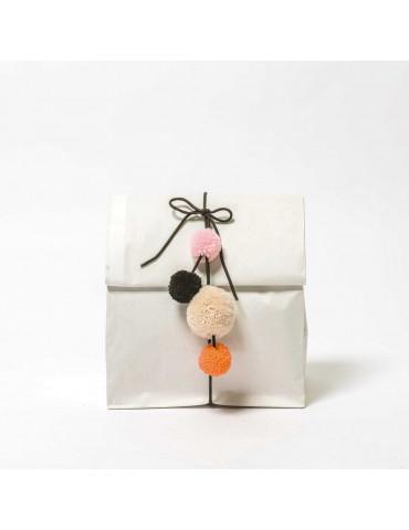 Pompons laine - Mix pastel...