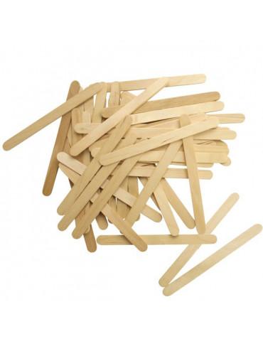 Bâtonnets plats - Bois naturel -1cm x11,4cm - 50pcs