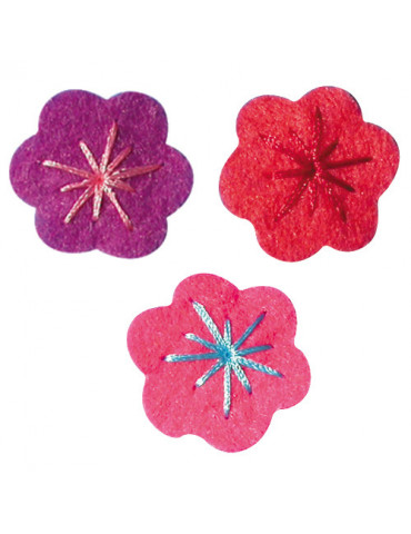 Petites fleurs feutrine...