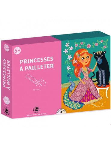 Kit Princesses à pailleter - 3 tableaux 21x29,7cm