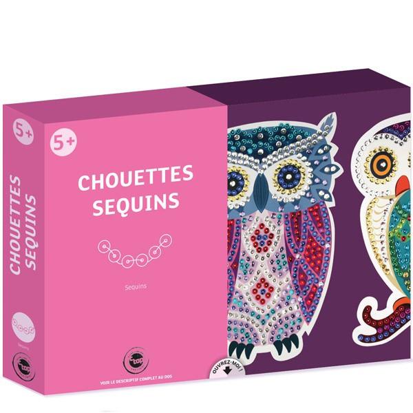 Kit Sequins Chouette - 2 tableaux mousse 21x29,7cm