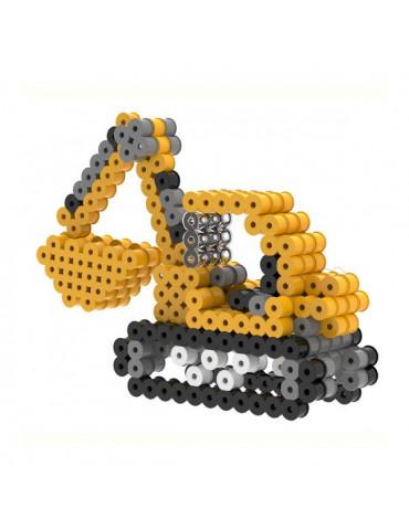 Kit perles à repasser 3D - Pelleteuse - 6ans+