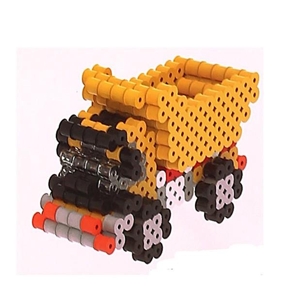 Kit Perlou 3D Camion Benne  - Kit perles à repasser 3D - Graine Creative