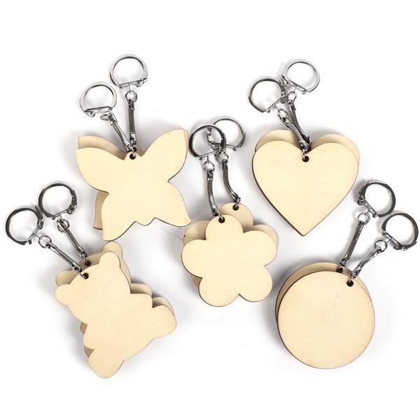Porte-clés assortis  bois x10