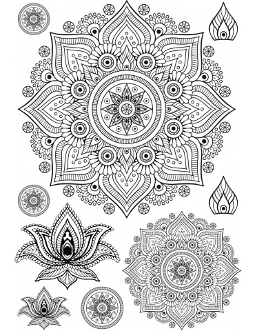 Transfert Mandalas noir thermocollant - Ki-Sign
