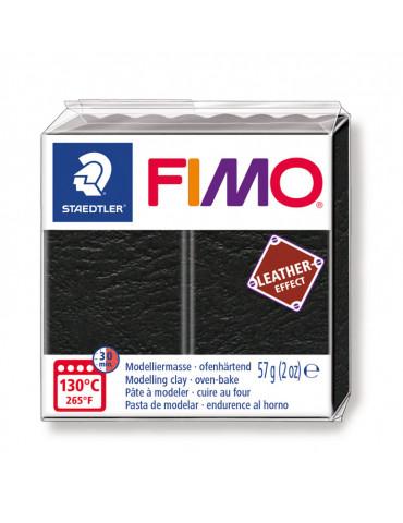 Fimo Effect cuir Noir - 57g