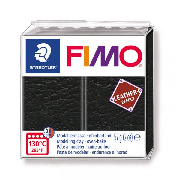 Fimo Effect cuir Noir (8010-909) - 57g
